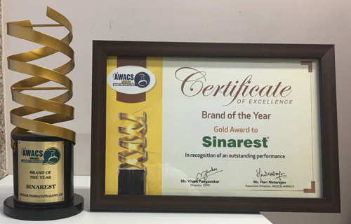 Sinarest 'Brand of the Year'- Gold