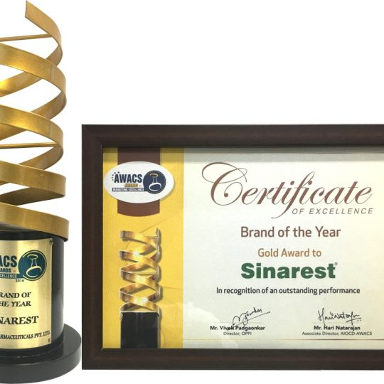 Sinarest Brand of the Year- Gold